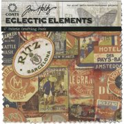 "Eclectic Elements 6""X6"" Fabric Pack By Tim Holtz 8/Pkg-Labels"