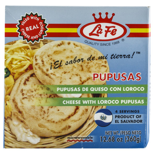 La Fe Pupusas with Cheese and Loroco, 12.68oz