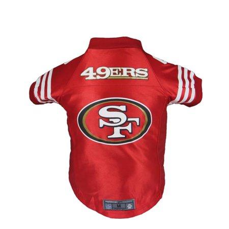 Little Earth 320135-49ER-L NFL Pet Premium Jersey  44  San Francisco 49ers  - Large - Walmart.com 82e7c7ffe