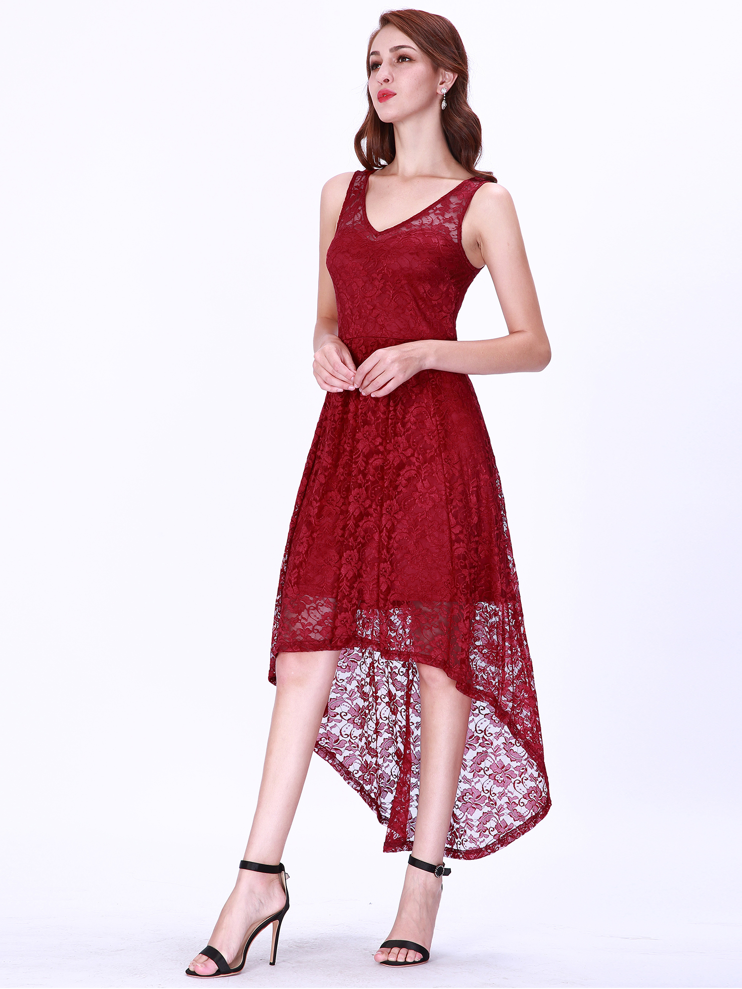 6cb2598725cb Ever-pretty - Ever-Pretty Women s Party Dresses A Line Elegant Lace Evening  Cocktail Casual Summer Dresses for Women 03063 US 12 - Walmart.com