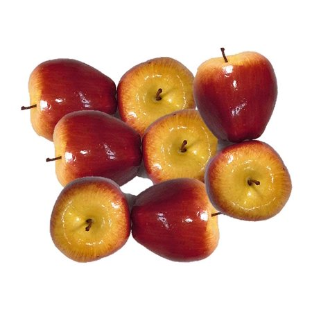 Adirondack Apples - Artificial Red Apples for Decoration - Set of 8