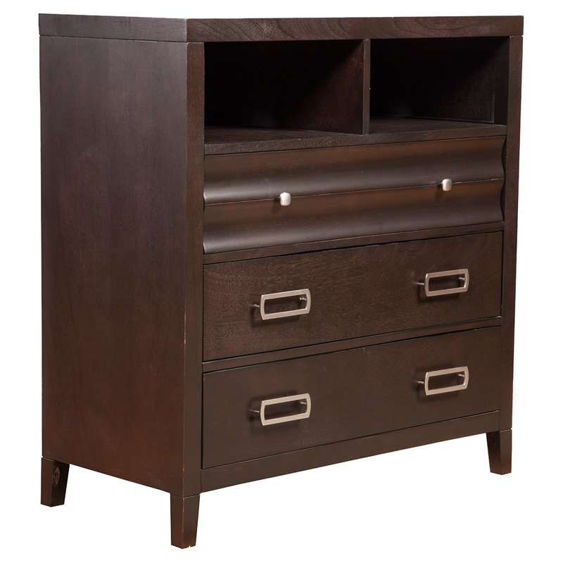 Alpine Furniture Legacy 4 Drawer TV Media Chest