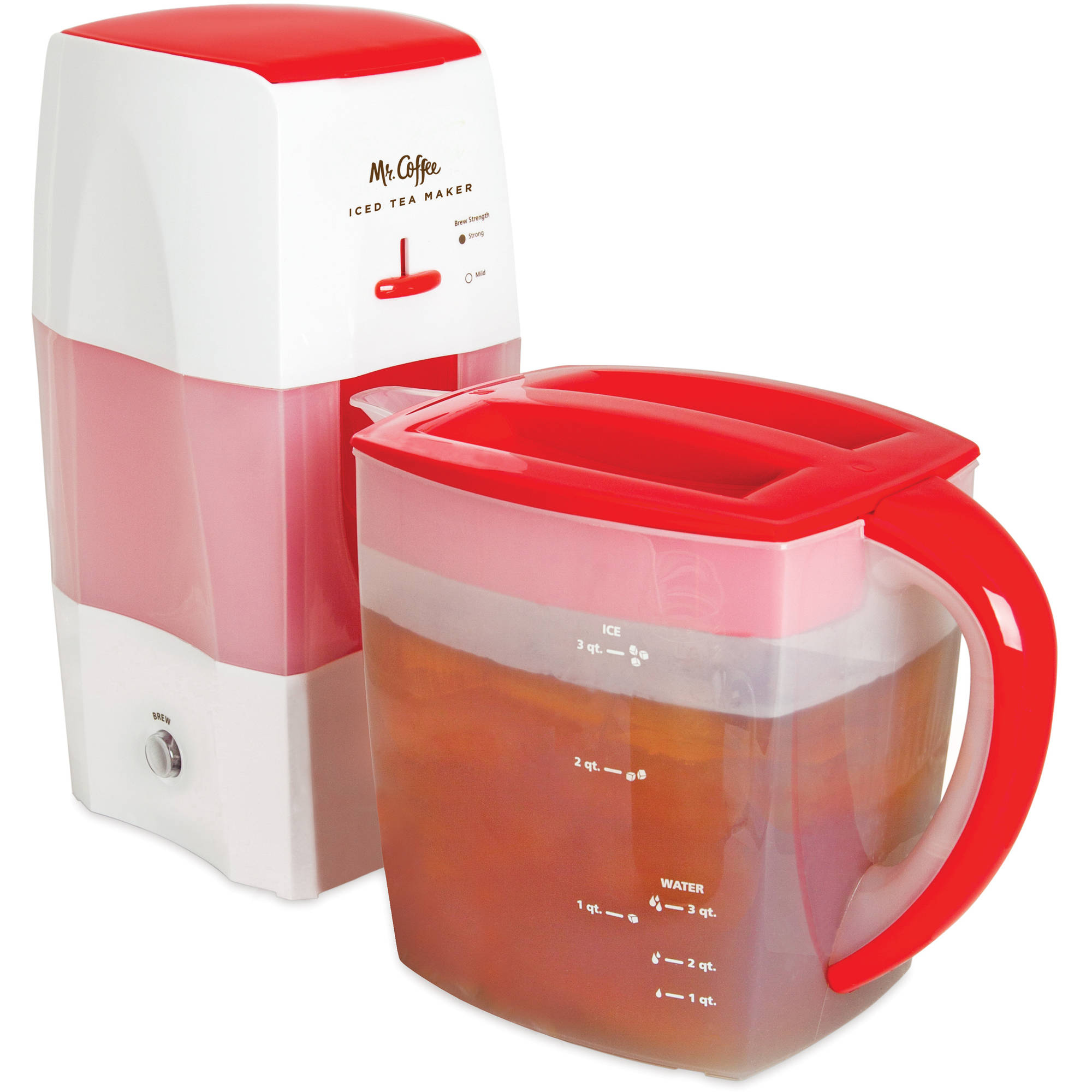 Owing to stainless steel body elements, this iced tea maker has an amazing design. You'll be surprised how easy you can make a glass of refreshing iced tea.