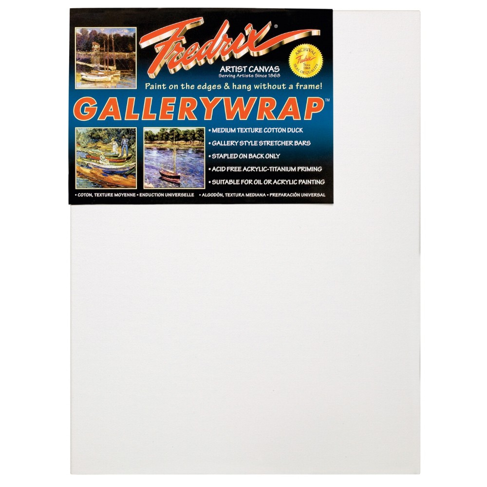 Fredrix Gallerywrap Duck Acid-Free Double-Primed Stretched Canvas, 10 x 10 In.