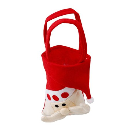 Holiday Time Christmas Candy Bags Stocking Xmas Santa Snowman Reindeer Kid Gift Candy Pouch Sack Stocking Filler