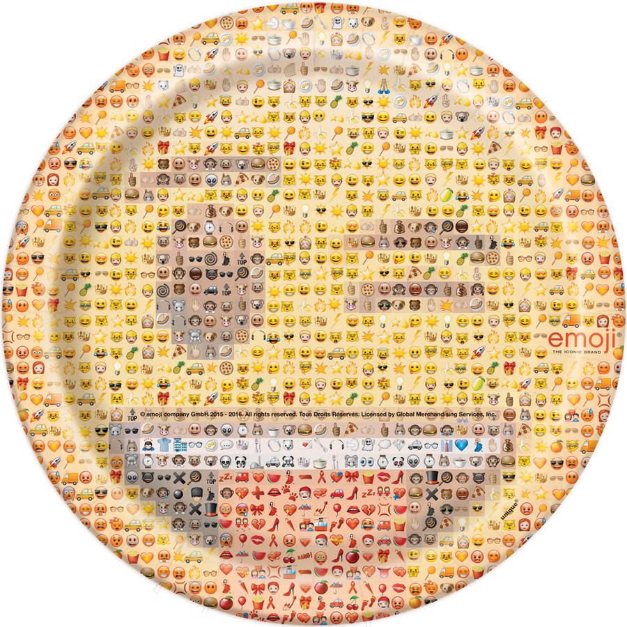 "9"" Emoji Party Plates, 8-Count"