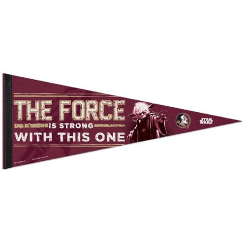 Florida State Seminoles Official NCAA 29 inch  Star Wars Yoda Premium Pennant by WinCraft
