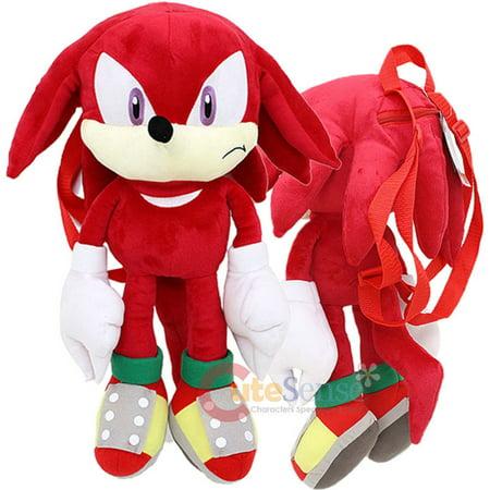 Sonic The Hedgehog Knuckles Plush Doll Bag Custom Backpack 21