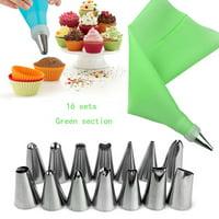 16Pcs Cake Decorating Kit Supplies Tips Tools Icing Bag Nozzles Piping Set