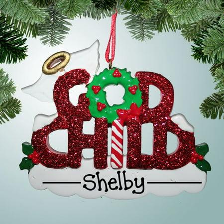 Godchild Gift - Godchild Personalized Christmas Ornament DO-IT-YOURSELF
