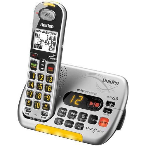 Refurbished Uniden D3097S Loud and Clear Cordless Caller ID Answering System (Factory Serviced)