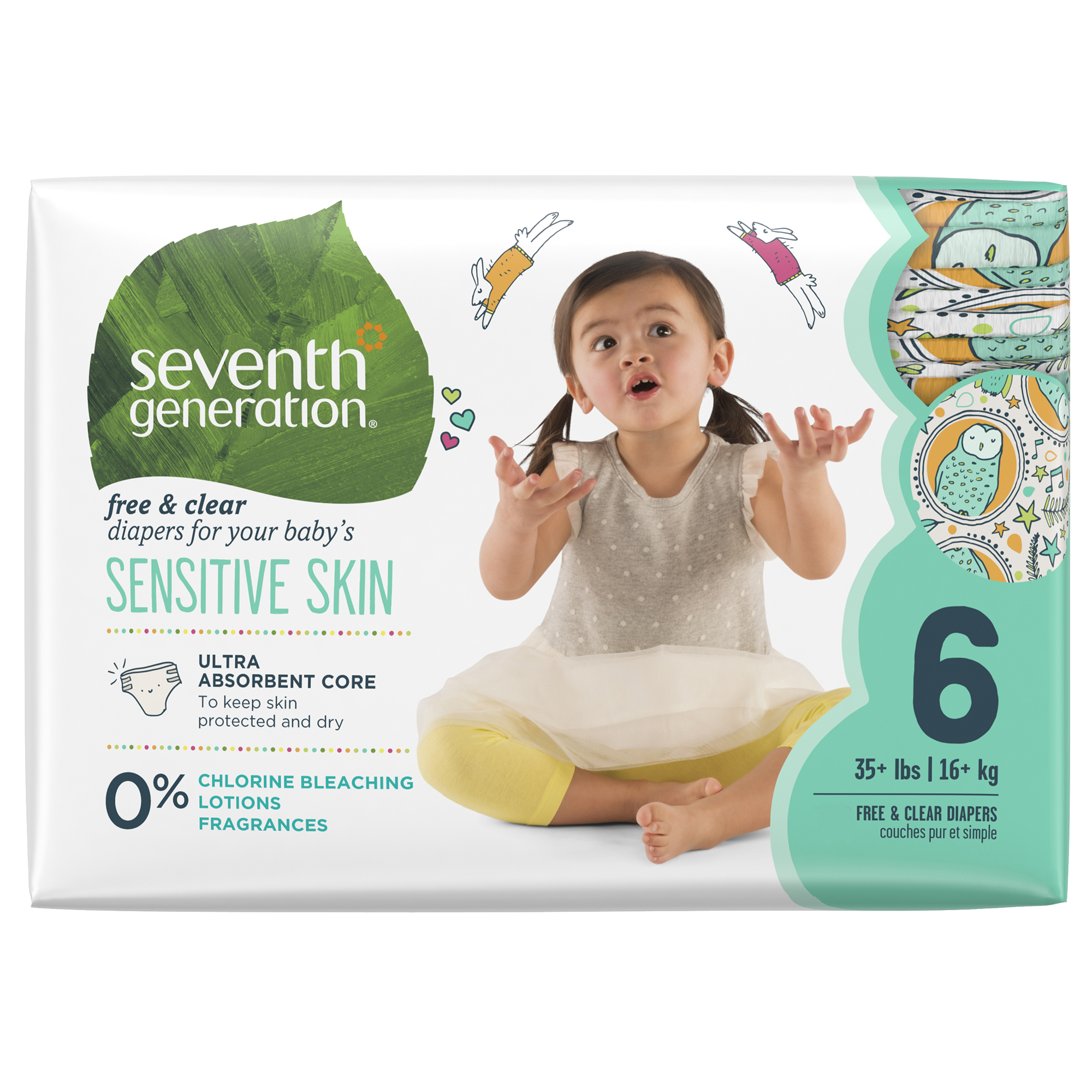 Seventh Generation Diapers Size 6, 1 packs of 20 (20 ct)