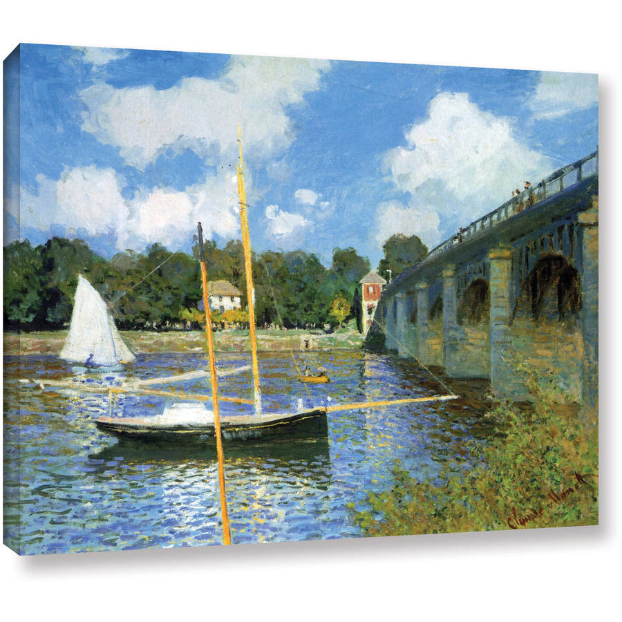 "Claude Monet ""The Argenteuil Bridge"" Wrapped Canvas"