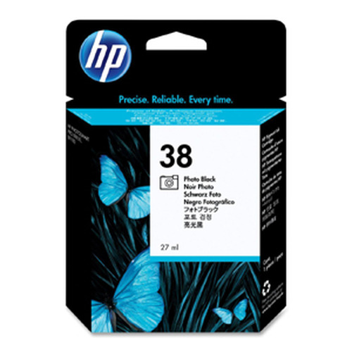 HP C9413A No. 38 Photo Black Pigment Ink Cartridge