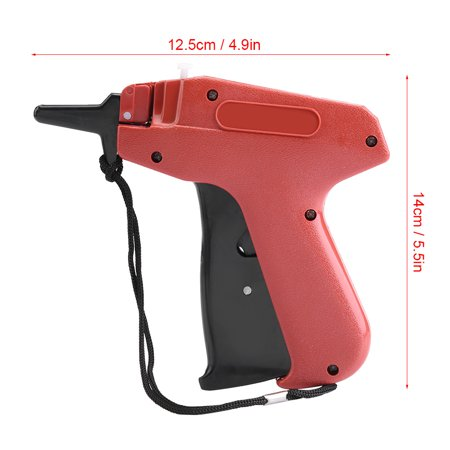 LYUMO Price Label Tagger,Tagging Gun,Plastic Price Label Tagging Gun Commercial Tagger for Clothes Garment Shop Features:This tagging gun provides a quick way to apply retailprice tags to a wide selection of products. Small size and light weight, well designed handle is comfortable to hold.Convenient to use, tagging with this gun is much fasterthan manually tagging.Use it toeliminate confusion over item prices and make the checkout processeasier for customers and employees. Widely used for garment shops, supermarkets, clothing industry, etc.Specification:Material: PlasticSize: 14*12.5cm / 5.5*4.9inWeight: 104g / 3.7oz (approx.)Package list:1 *Tagging Gun  Instruction:1, Insert tag barbs into the top slot on tagging gun.2, Put on label,pass needle through label hold and fabric, press the trigger.3, Install blade, when insert new blade,install it on the right place carefully, namely insert it to the top.4, Adjust needle, align needle cap toneedle tip, rotate needle bar forward, and pull out the needle.Note: Do not point the tagging gun to human or animals. Do not give it to children as a toy, the needle is quite pointed.