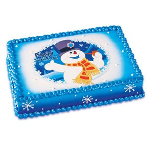 Frosty the Snowman Edible Image Cake Topper
