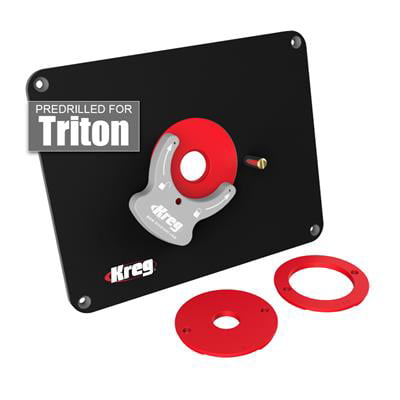 Kreg PRS4034 Precision Router Table Insert Plate w  Level-Loc Rings (predrilled Triton) by Kreg Tool Company