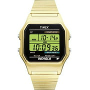 Timex Men's Classic Digital Stainless Steel Gold-Tone Expansion Band Watch