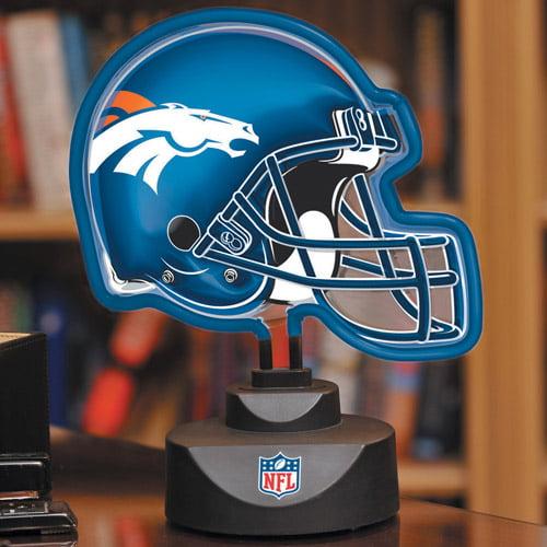 Memory Company Neon Helmet Lamp - Broncos