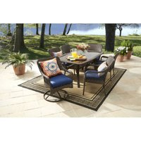 Better Homes and Gardens Colebrook Outdoor Dining Patio Set, Wicker 7 Piece