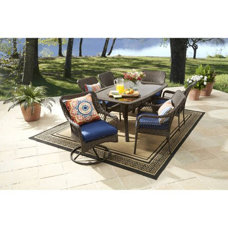 Better homes and gardens colebrook 7 piece dining set blue 7 better homes and gardens