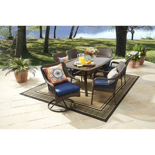 Better Homes and Gardens Colebrook 7-Piece Dining Set, Blue