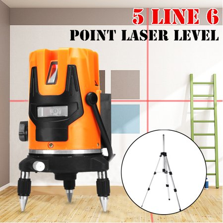 Automatic Water Level Controller (5 Line 6 Point 4V1H Horizontal Vertical Laser Level Professional Automatic Self Leveling Measure 635nm Wave Length With)