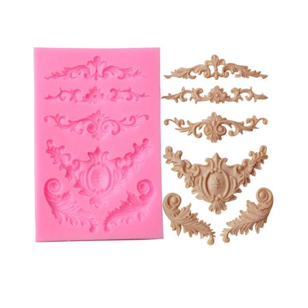 Silicone Sculpted Flower Lace Mould Candy Jello 3D Cake Mold