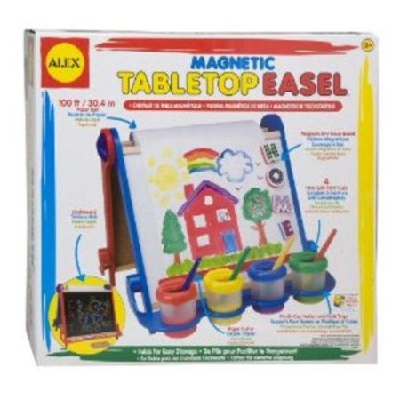 - ALEX? Toys - Artist Studio Magnetic Tabletop Easel -Wood 25E Multi-Colored