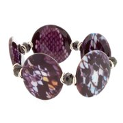 NEXTE Jewelry  Snakeskin Pattern Shell Bead Stretch Bracelet