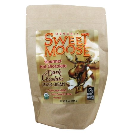 FunFresh Foods - Sweet Moose Gourmet Hot Chocolate Organic Cocoa Dark Chocolate Cocoa Cream - 8