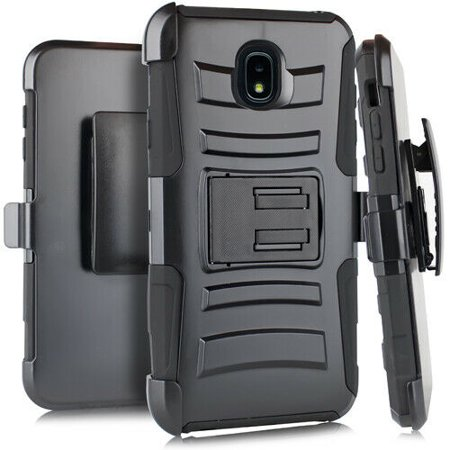 Kaleidio Case For Samsung Galaxy J7 Crown, J7 Aero, J7 Aura, J7 Top, J7 Eon [Dual Form] Rugged Holster [Belt Clip][Shockproof] Dual Layer [Kickstand] Armor Cover w/ Prying Tool