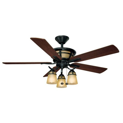 Hampton Bay Alicante 52 in. Natural Iron Ceiling Fan by King of Fans