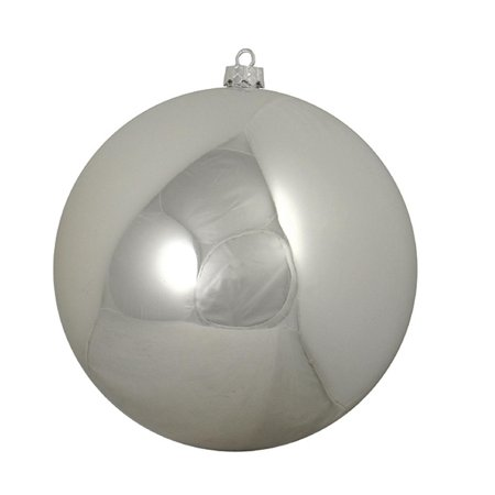 Shiny Silver Splendor Commercial Shatterproof Christmas Ball Ornament 6