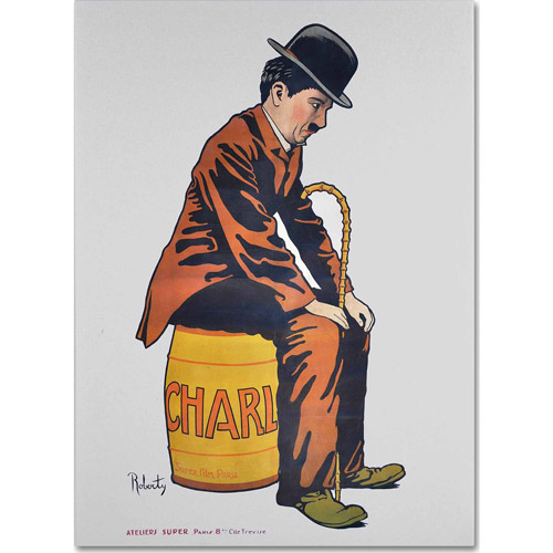"Trademark Fine Art ""Chaplin"" Canvas Art by Vintage Apple Collection"