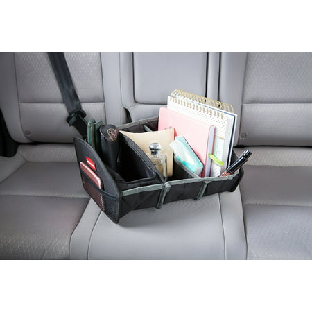 Rubbermaid Soft Seat Organizer Car Interior Organization Non-Slip Perfect for Passenger Seat with Extra Storage and Compartments (Overland Passenger Car)