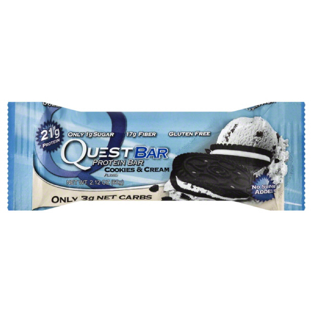 Quest Protein Bar, Cookies & Cream, 21g Protein, 1 Ct