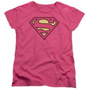 Dc - Superman Classic Logo - Women's Short Sleeve Shirt - X-Large