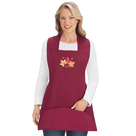 Embroidered Costume (Seasonal Embroidered Cobbler Aprons with Pockets for Thanksgiving, Halloween, Fall, Spring)