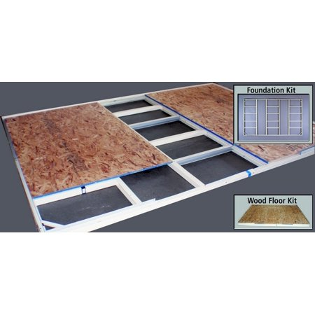 Duramax 57100 8'x6' Metal Shed Foundation - For Pent Roof