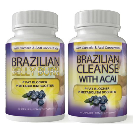 Brazilian Belly Burn and Cleanse Combo with Fat Fighting Acai (60