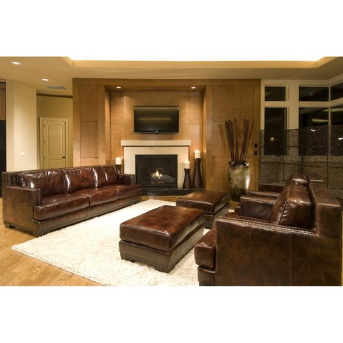Elements Fine Home Furnishings Elements Fine Home EME-5PC-S-SC-SC-SO-SO-SADD-1 Emerson Leather Sofa Set