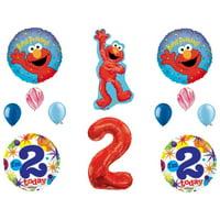 2nd Elmo Birthday Party Balloons Decoration Supplies Second Sesame Street