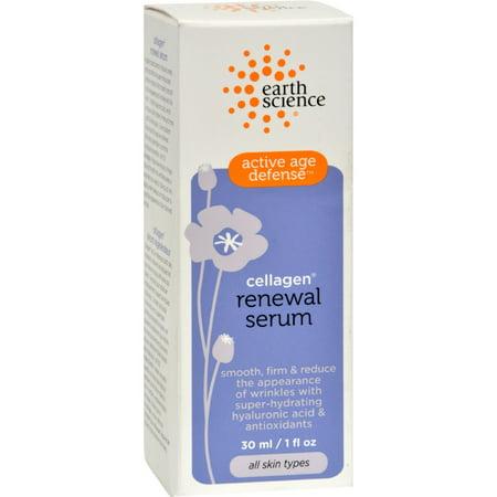 Earth Science, Active Age Defense, Cellagen Renewal Serum, 1 fl oz(pack of 3)