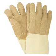 NATIONAL SAFETY APPAREL Heat Resist Gloves,Brn,PBI/Kevlar(R),PR G51PBRW13714