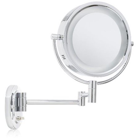 Jerdon Hl65c 8 Inch Two Sided Swivel Halo Lighted Wall