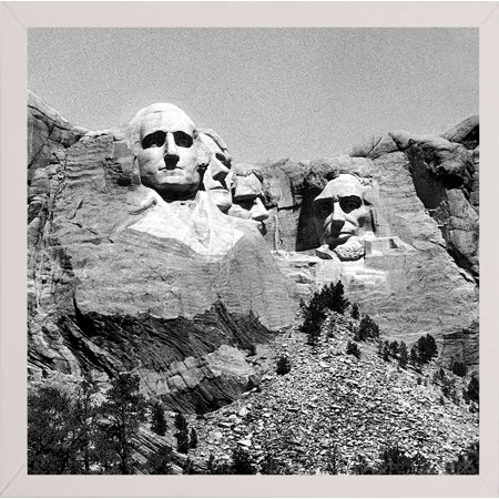 "Mt. Rushmore Plate #3-HARLAN74760 Print 12""x12"" by Harold Silverman - Landscapes in a Affordable White Medium"