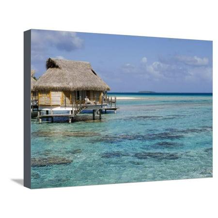 Pearl Beach Resort, Tikehau, Tuamotu Archipelago, French Polynesia Islands Stretched Canvas Print Wall Art By Sergio Pitamitz (Pitamitz Sergio Pearl Beach Resort)