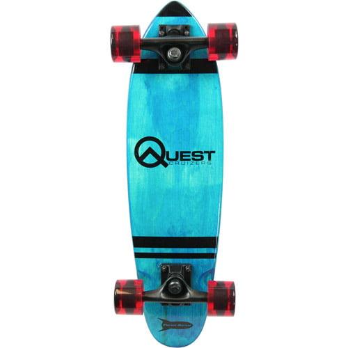 "Quest Rockit Pockit 24"" Cruizer Board, Blue"