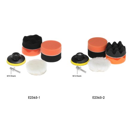 "7PCS Brand New 3"" 80mm Car Polishing Pads Waxing Buffing Pad Sponge Kit Set for Car Polisher Buffer Waxer Sander Polishing Waxing Sealing Glaze Including 4 Polishing Pads + 1 Woolen Buffer + 1 Adhes - image 5 of 7"